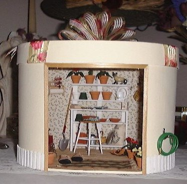 Blohmdesign dollhouse miniature the potting shed for Mini potting shed